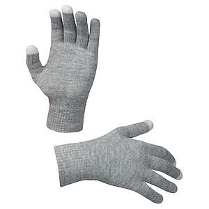 Uzpůsobené rukavice umožňující použití smartfónu, šedá