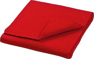 Pletená akrylová šála 160x20 cm, červená