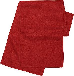 ALPINE fleecová šála , červená