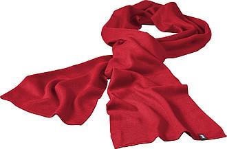 JAREMA Dvouvrstvá akrylová šála Elevate 180x26 cm, červená