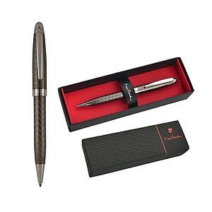PIERRE CARDIN OLIVIER Kovové kuličkové pero s modrou náplní papírová taška s potiskem