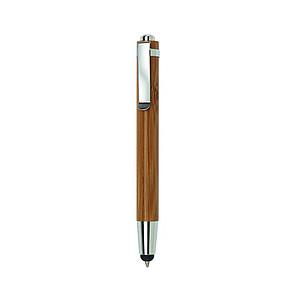 Dřevěné KP s černou náplní a stylusem pro dotykové displeje