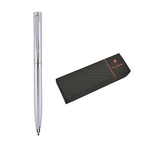 PIERRE CARDIN RENEE Kovové kuličkové pero s modrou n., stříbrné - psací potřeby