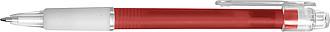 BANGO transparentní kuličkové pero, červené