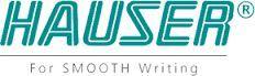 HAUSER WRITE-O-METER Plastové kuličkové pero s modrou náplní, bílé
