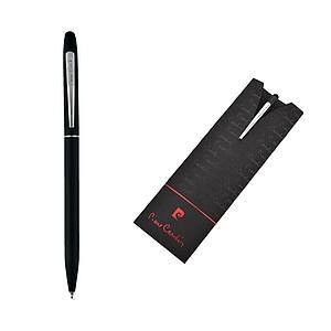 PIERRE CARDIN ADELINE Kovové kuličkové pero se stylusem a modrou náplní papírová taška s potiskem