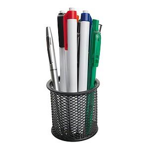 HAUSER CRYSTAL Bílé plastové kuličkové pero s modrou náplní, červené