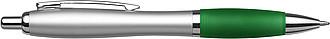 BANKER Kuličkové pero, stříbrné tělo, barevná rukojeť,zelené