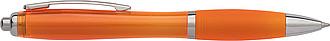 JORGE Plastové kuličkové pero, oranžové