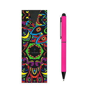 PIERRE CARDIN CELEBRATION Kovové kuličkové pero se stylusem, růžové - psací potřeby