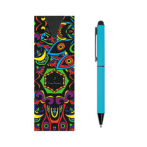 PIERRE CARDIN CELEBRATION Kovové kuličkové pero se stylusem, světle modré - psací potřeby