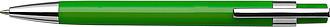 VALTR Plastové kuličkové pero s kovovým klipem, černá náplň, sv.zelené - psací potřeby