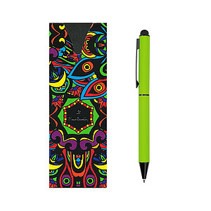 PIERRE CARDIN CELEBRATION Kovové kuličkové pero se stylusem, zelené - psací potřeby