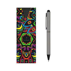 PIERRE CARDIN CELEBRATION Kovové kuličkové pero se stylusem, šedé - psací potřeby