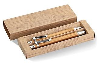 BAMBOOSET Souprava kuličkového pera se stylusem a mech.tužkou, bambus