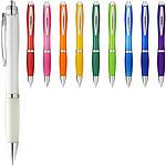 Barevné kuličkové pero Nash s barevným úchopem, oranžová