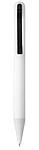 Hladké plastové kuličkové pero, v černé krabičce, bílá