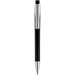 Kovové kuličkové pero s černým klipem, černá