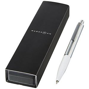 Kuličkové pero Dot - modrý inkoust, bílá