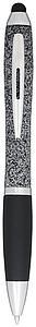 CRISTOBAL Kuličkové pero s otočným mechanismem a stylusem, černá n., černá