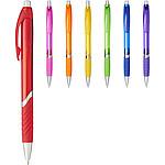 Bílé kuličkové pero s gumovým úchopem, černá náplň, černá