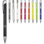 Kuličkové pero s jemným úchopem, černá náplň, bílá