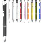 Papírové kuličkové pero, černá náplň, černá