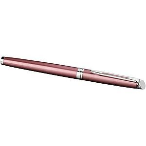 Elegantní plnicí pero, modrá náplň, růžová