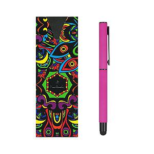 PIERRE CARDIN CELEBRATION Kovový roller se stylusem, modrá n., růžová - reklamní bundy
