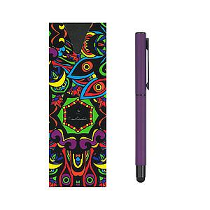 PIERRE CARDIN CELEBRATION Kovový roller se stylusem, modrá n., fialový - psací potřeby