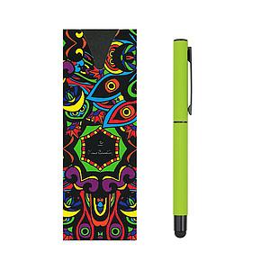 PIERRE CARDIN CELEBRATION Kovový roller se stylusem, zelený - psací potřeby