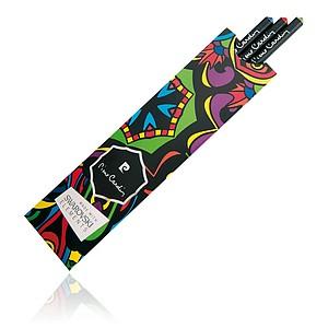 PIERRE CARDIN OPERA Sada 3 černých tužek s krystalem Swarovski - červený, modrý a zelený - psací potřeby
