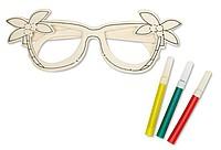 BRELI Kreslící sada - brýle ze dřeva, 3 fixy