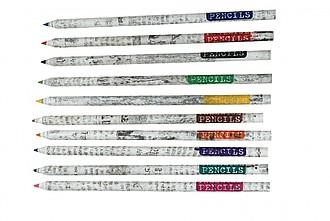 VERNICE eko sada omalovánek pro děti s 10 pastelkami z recyklovaných novin