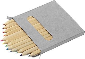 KRESLÍK souprava 12 pastelek, kart.krabička