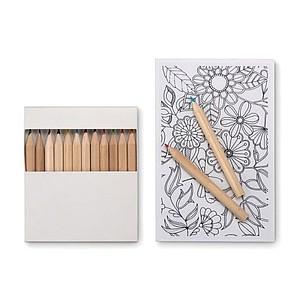 Sada na kreslení pro dospělé, pastelky a omalovánky