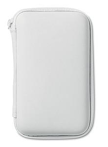 CINAMON Cestovní sada power banky, autonabíječky a USB kabelu, bílá