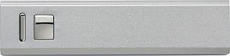 Hliníková powerbanka s kapacitou 2600 mAh, stříbrná
