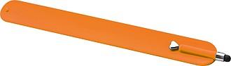 Plastový náramek se stylusem, oranžový