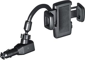 OGRIM Držák mobilního telefonu s USB konektorem do zapalovače, ABS