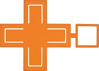 Univerzální držák mobilního telefonu, oranžový