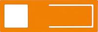 EDONAN Držák mobilního telefonu a závěsná tabulka 2 v 1, oranžový