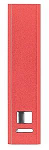 SONATA Hliníková powerbanka s kapacitou 2200 mAh, červená