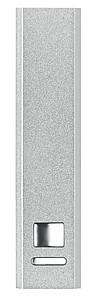 SONATA Hliníková powerbanka s kapacitou 2200 mAh, stříbrná