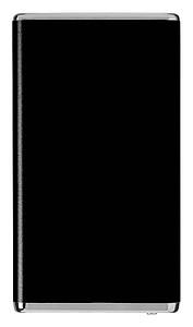 Plochá kovová powerbanka 2200 mAh, černá
