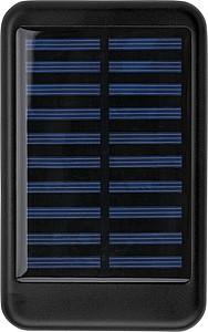 Hliníková solární powerbanka, kapacita 4000mAh, černá