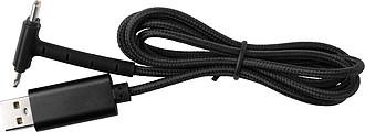 Nabíjecí kabel, 2 koncovky, černý