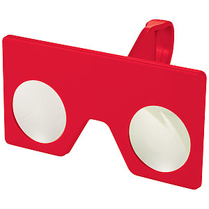 Mini virtuální brýle s klipem, červená