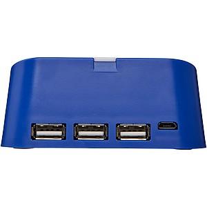 Rozbočovač Hopper 3-in-1a stojánek na telefon, královská modrá
