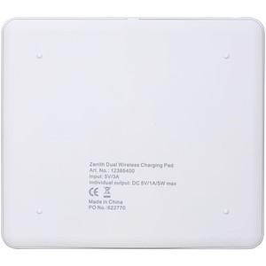 Podložka k bezdrátovému nabíjení pro dva telefony, bílá